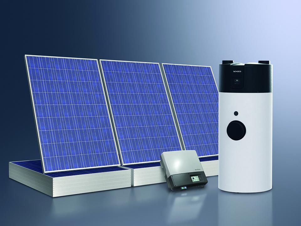 pompa di calore e pannello fotovoltaico
